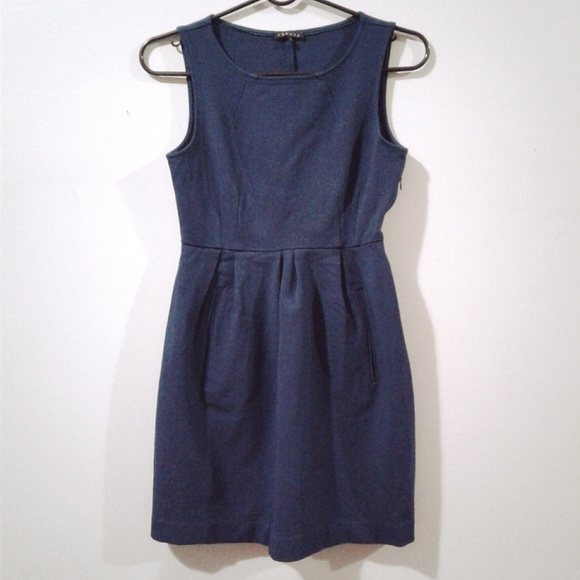Theory Dresses & Skirts - Theory Blue Sleeveless Crew Neck Dress Size 2